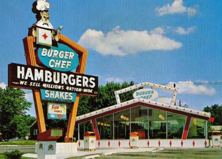burger chef strictly tables counter order hamburgers real treat burger chef